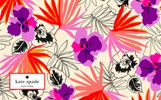 kate spade new york / TAHITIAN FLORALS wallpapers