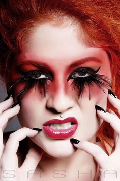 """Attitude""  Love this dramatic look.   #Lipgloss #Lashes #Makeup"