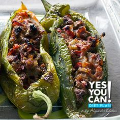Beef Stuffed Chilies - A healthy option for your Yes You Can! Diet Plan dinner