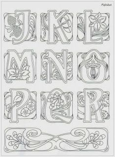 This may be from Judy Balchin's' book – Art Nouveau Designs – View 2 of… This could have come from Judy Balchin. Book – Art Nouveau Designs – View 2 of 3 Monogram Letters, Letters And Numbers, Colouring Pages, Coloring Books, Frise Art, Design Art Nouveau, Alphabet, Jugendstil Design, Quilling Patterns