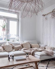 # Cozy Cozy Söderhamn Sofa by I . Ikea Living Room, Boho Living Room, Living Room Furniture, Ikea Sofas, Ikea Couch, Ikea Sectional, Söderhamn Sofa, Home Interior, Interior Design