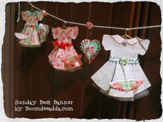 DOLL DRESS BANNER BY KELLY