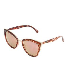 Look what I found on #zulily! Rose Tortoise Cat-Eye Sunglasses #zulilyfinds