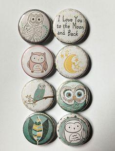 Custom Buttons, Vintage Buttons, Owl Rocks, Owl Card, Button Badge, Pin Button, Rock Decor, Badge Design, Cool Pins