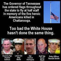 Obama Refuses to Fly the U.S. Flag Half-Staff in Honor of 5 Dead Marines but Has No Problem Celebrating Same Sex Ruling by Decorating White House with Gay Pride Lights
