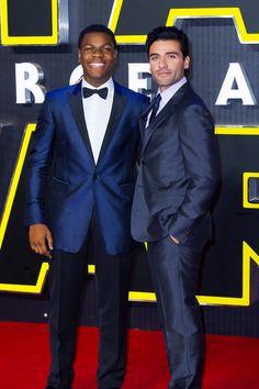 John Boyega and Oscar Isaac at the Star Wars: The Force Awakens European Premiere, December 16th, 2015