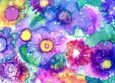 Floral Painting, Feminine Wall Art, Alcohol Ink Print, Interior Design Trend, Pink Giclee Print, Inexpensive Art Work, Abstract Flower Art
