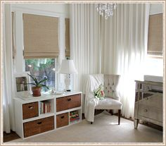 White Nursery Design, Pictures, Remodel, Decor and Ideas - page 2 Traditional Nursery, Decor, Floor To Ceiling Curtains, Curtains, Designer Drapes, Nursery Curtains, Curtains With Blinds, Nursery Curtains Boy, Room