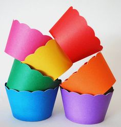 Rainbow Cupcake wrappers by YourlittleCupcake.