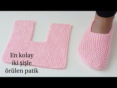 Easy Garter Stitch Slippers Free Knitting Pattern - Video: Easy One Piece Garter Stitch Slippers Free Knitting Pattern for men and women Crochet Slipper Pattern, Crochet Poncho Patterns, Easy Knitting Patterns, Crochet Shoes, Knitting Designs, Gestrickte Booties, Knitted Booties, Knitted Slippers, Knitting Socks