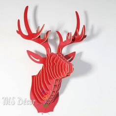 DIY Deer Head Wooden MDF Wall Hanging for Home Decor. door Decorism
