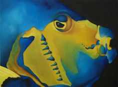 """Queen Angel Fish"", oil on canvas, 9"" x 12"", 23cm x 30cm"