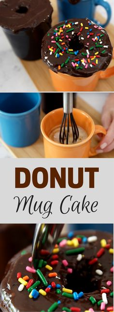 You can't resist this Donut Mug Cake that can be made in minutes!