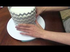 How to make fondant Chevron Pattern for cake - YouTube