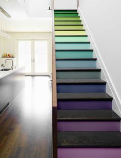 Maybe I will do this to my basement stairs.  It's so pretty.