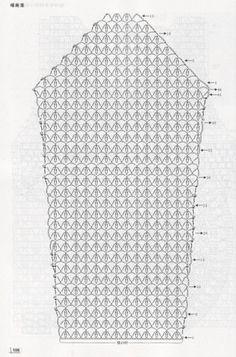 Ажурный пуловер детский крючком схема 4