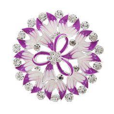 Fashion Exquisite Women Party Latest Purple Flower Enamel Brooch Color Optional