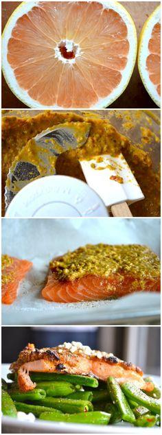 Grapefruit & Pistachio Crusted Salmon from Rachel Schultz