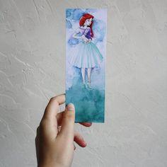 Bookmark Art drawing print disney princess par ElaineIllustration
