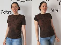 How to Make a Guy's T-Shirt Fit a Girl