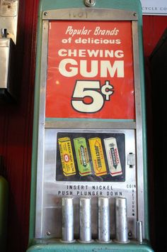 Wow. I forgot all about these!! gum vending machine