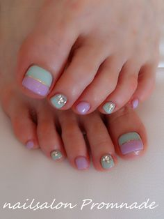 Cute Toe Nails, Love Nails, How To Do Nails, My Nails, Toe Nail Color, Toe Nail Art, Nail Colors, Pastel Nails, Purple Nails