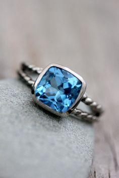 Ring, Jewlelry, Blue Topaz, Gem