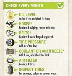 Do you check your car every month? Here's a simple checklist of things to check in between services.  ✅OIL LEVEL ✅HOSES ✅BELTS ✅TIRE PRESSURE ✅COOLANT OR ANTIFREEZ ✅AIR FILTER  ✅INSPECT TIRES  Feel free to give us a call and we'll accommodate you right away for CAR CARE ADVISES.   Visit us Iskandar Garage, Industrial Area 1, Ajman  Call us at 06 7431907/ 0552078666 Timings: 8am-130pm/ 330-10pm   #autobody #autobodyshop #garage #carmechanic #workstation #visualiner#mechanicshop #mentor