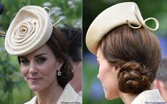 At the next day's Garden Party Kate sported a new piece by Lock and Company, the milliner's Morning Rose Perching Hat.
