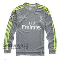 Camiseta manga larga Real Madrid 2015 2016 segunda Nueva Camiseta Real  Madrid e67758e3117ea