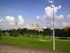 Mini-gold links Ft Santiago, Intramuros, Manila overlooking Manila City Hall, Taft Ave., Ermita, Manila, Philippines