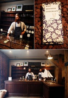 underthesheets: the beards behind the chocolate Nutella, Mast Brothers Chocolate, Chocolate Boutique, Autocad, Storefront Signs, Chocolate Stores, Chocolate Packaging, Cool Countries, Cafe Interior