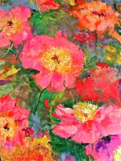 Peonies (trying it as an IPHONE case)  artist, Sandy Welch
