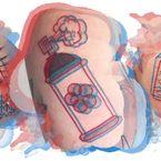 Hit czy kit: dwukolorowe tatuaże 3D