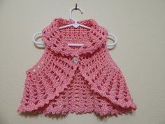 With free video tutorial you can crochet beautiful Bolero vest and make gift for yourself or for people you love. Very useful and beautiful Item that you can craft with your hands Crochet Backpack, Crochet Cardigan, Crochet Shawl, Knit Crochet, Crochet Jacket, Crochet Hood, Crochet Winter, Crochet Summer, Crochet Christmas