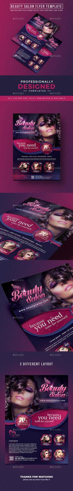 Beauty Salon Flyer Template Free Psd      Flyer
