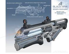 Weapon Art.  Ice Rifle