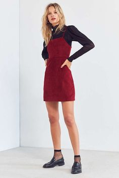 42bce2a050a7ee Cooperative Corduroy Straight-Neck Mini Dress