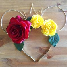 """A personal favorite from my Etsy shop <a href=""""https://www.etsy.com/listing/476460626/wire-mouse-ears-mickey-ears-beauty-and"""" rel=""""nofollow"""" target=""""_blank"""">www.etsy.com/...</a>"""
