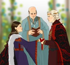 The Royal Wedding : RxL by chillyravenart on DeviantArt Game Of Thrones Artwork, Game Of Thrones Tv, Character Inspiration, Character Art, Character Ideas, Rhaegar And Lyanna, Here Be Dragons, Game Of Thones, Fire And Ice