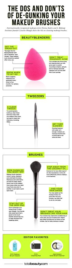 You're Making These Mistakes When Cleaning Your Makeup Brushes - You don't even want to know what's lurking on your makeup tools; here, how to get them spotless