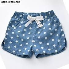 beachwear children clothing western summer cotton shorts lovely polka linen jeans girls denim pant 2017 Summer 2017 Girls Denim Shorts Jeans Shorts Children Clothing Lovely Polka Dots Baby Western CottonYou can find Shorts and more on our website Short Niña, Short Girls, Baby Girl Dresses, Baby Dress, Short Infantil, Girls Denim Shorts, Girls Jeans, Shorts For Girls, Denim Jeans