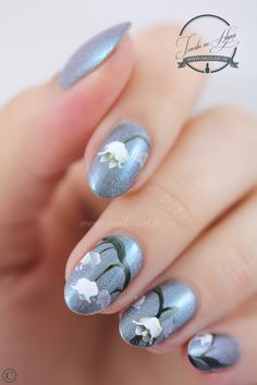 Lilly of the Valley ~ a-England 'Captive Goddess' with nail art using acrylic paint ~ by Tenshi no Hana