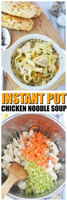 Chicken Noodle Soup recipe for Instant Pot, Make from scratch with fresh pasta and chicken, for a soothing home cooked soup recipe that will have you sighing, the easiest and best Instant Pot Chicken Noodle Soup!