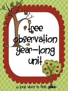 Year Long Tree Observation Journal-A Science Inquiry Project