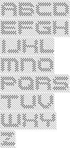 MyFonts: Op-art typefaces