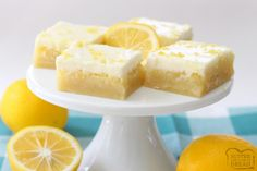 Everyone loves the triple layers in these Lemon Butter Bars! Easy to make with a lovely bright, sweet flavor, they're one of my favorite lemon recipes.