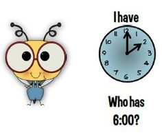 """""""I Have/Who Has"""" Telling Time Game"""