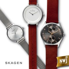 Skagen watches. For the discerning individual with a timeless sense of style. Which one has your name on it?