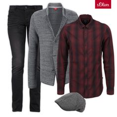 Check out 1 cardigan - 3 styles #shirt #hat #jeans #men
